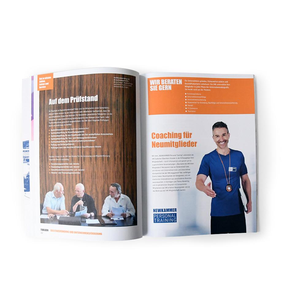 IHK Magazin TOOLBOX - Innenseite Coaching für Neumitglieder