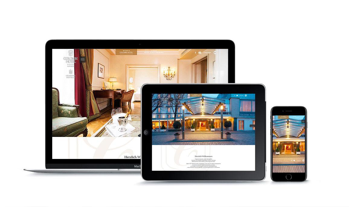 Neuer Webauftritt für das 5 Sterne Hotel Colombi in Freiburg
