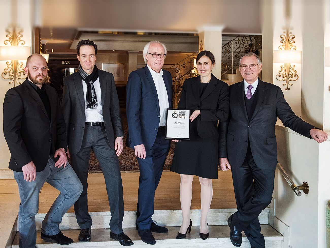 Schleiner und Partner gewinnen den German Design Award für die Webseite des Colombi Hotels in Freiburg www.colombi.de