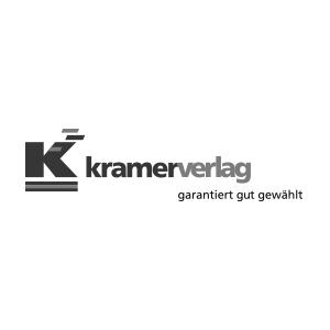 Logo des Kramerverlags. Garantiert gut gewählt.