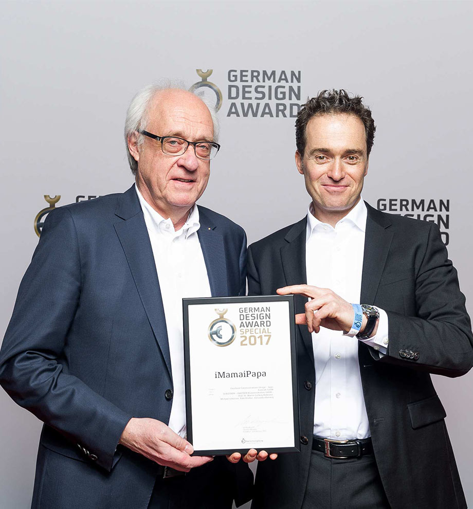 German Design Award 2017 für iMamaiPapa
