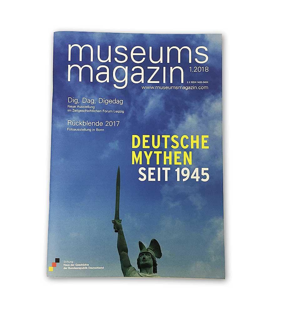 Cover des Museumsmagazins 1 im Jahr 2018. Deutsche Mythen seit 1945.