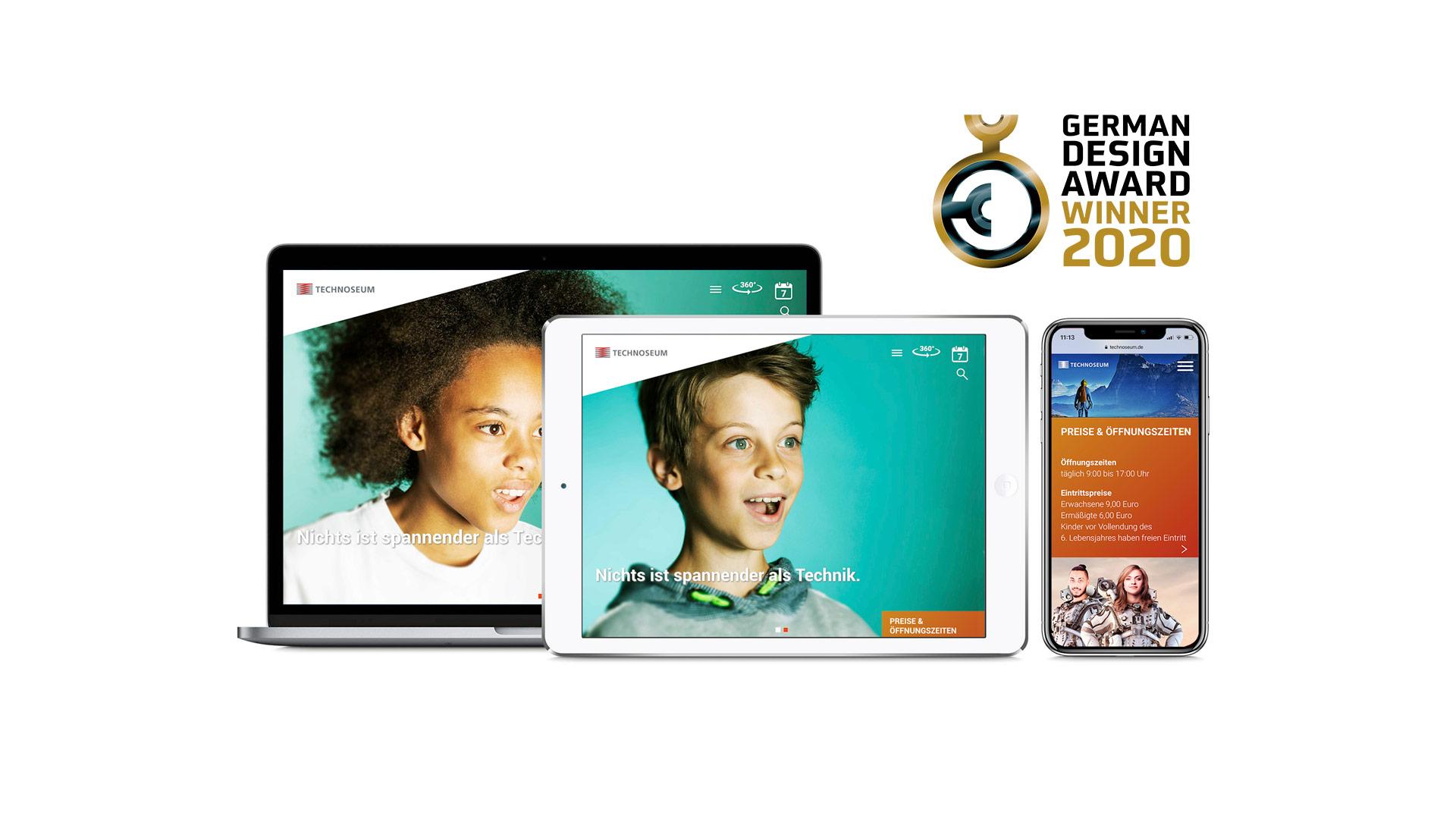 Werbeagentur Schleiner + Partner gewinnt den German Design Award 2020 für die Website TECHNOSEUM