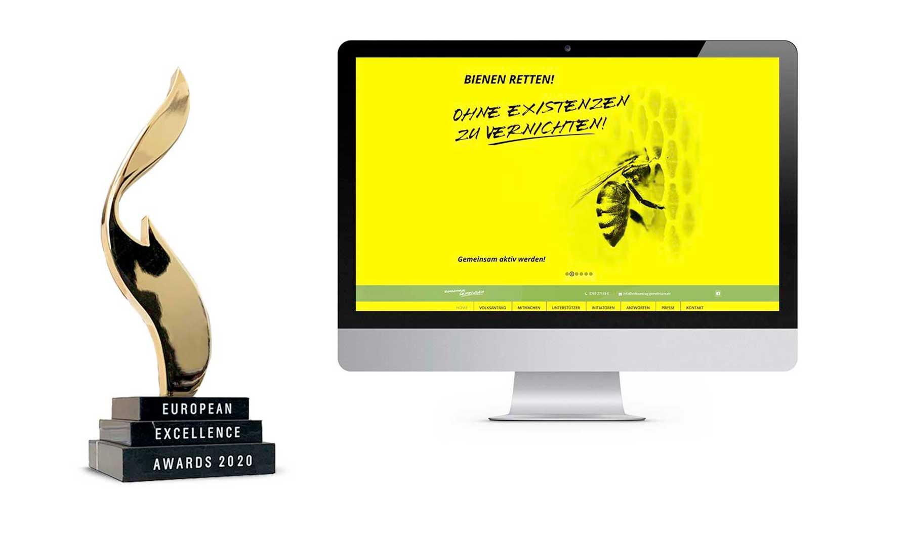 European Excellence Awards 2020 – Preis für Werbeagentur Schleiner + Partner Kommunikation GmbH