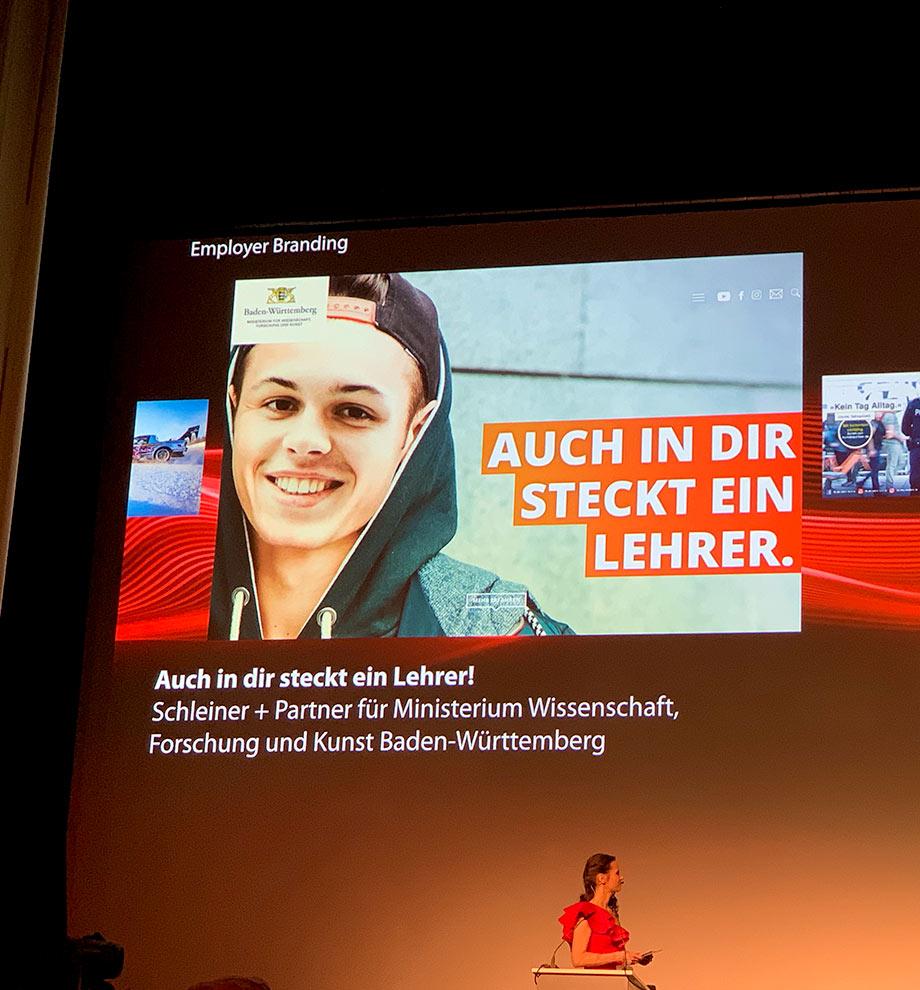 """S+P gewinnt den PR Report Award 2019 für die Kampagne """"Lieber Lehramt"""""""