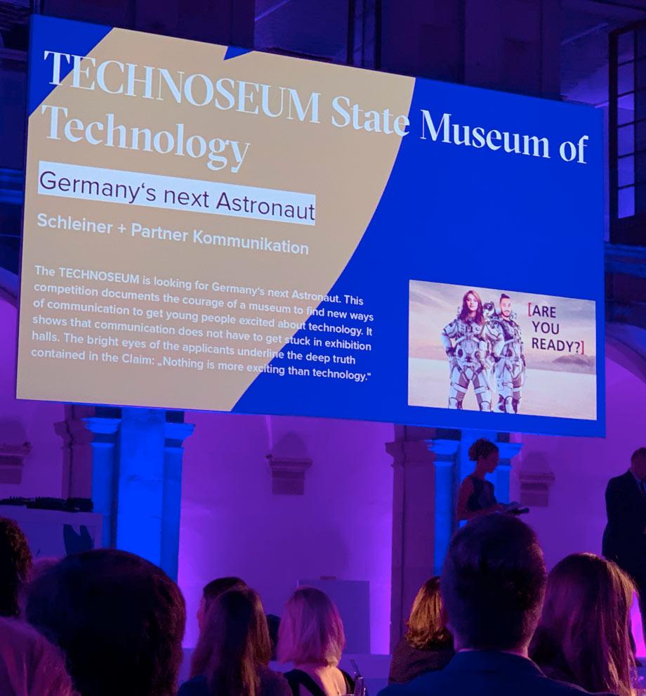 Germany's next Astronaut für das TECHNOSEUM Mannheim gewinnt European Excellence Award 2019