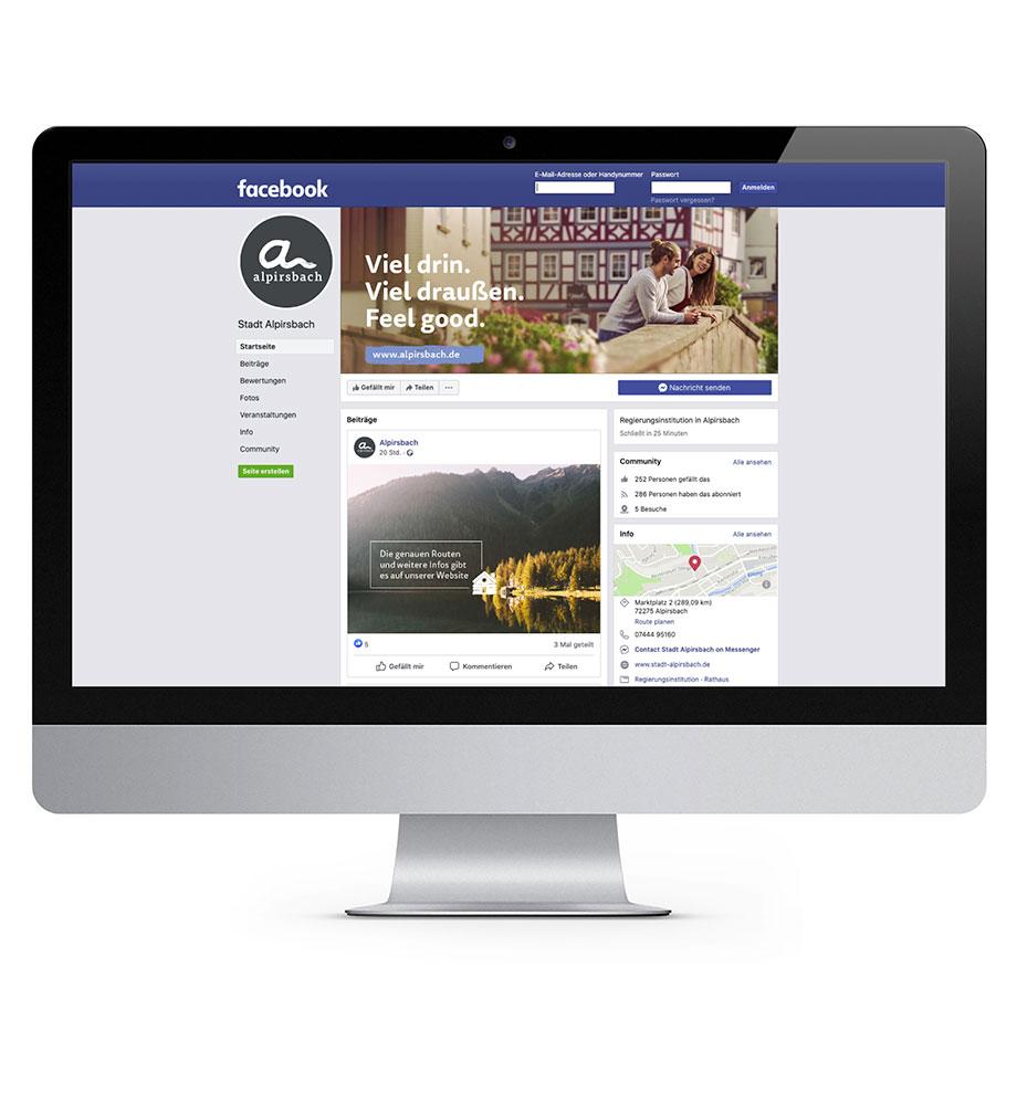 Neuer Facebook-Auftritt für die Stadt Alpirsbach