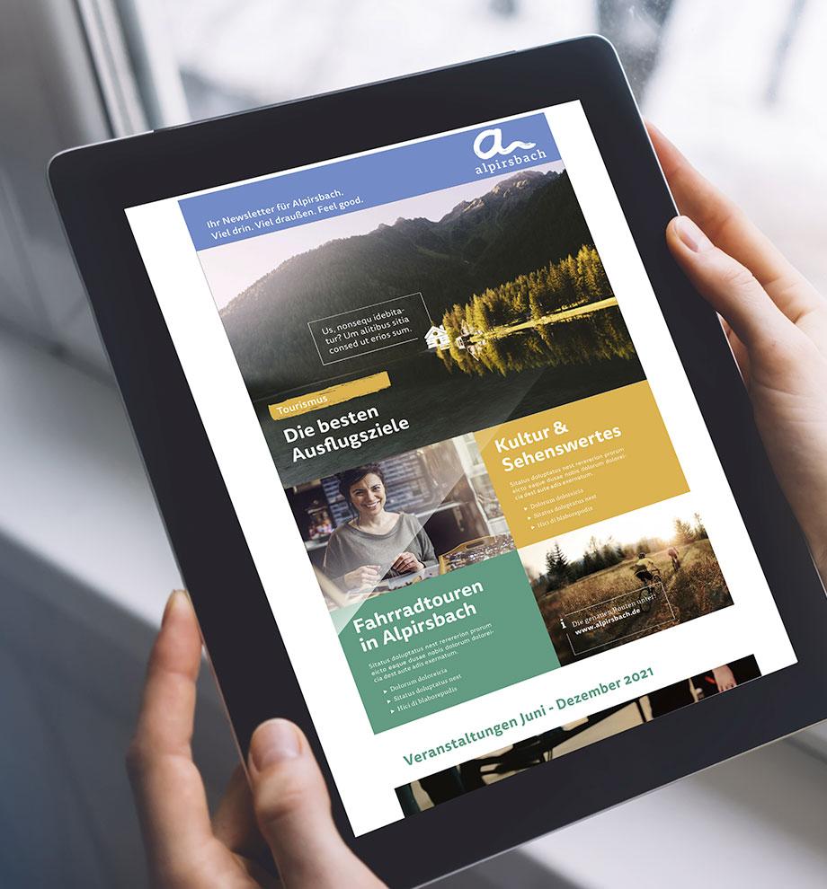 Newsletter-Layout für Stadt Alpirsbach