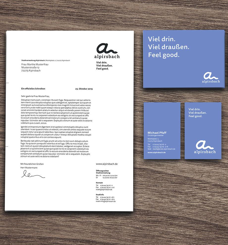 Geschäftsausstattung Alpirsbach: Visitenkarten und Druckvorlagen
