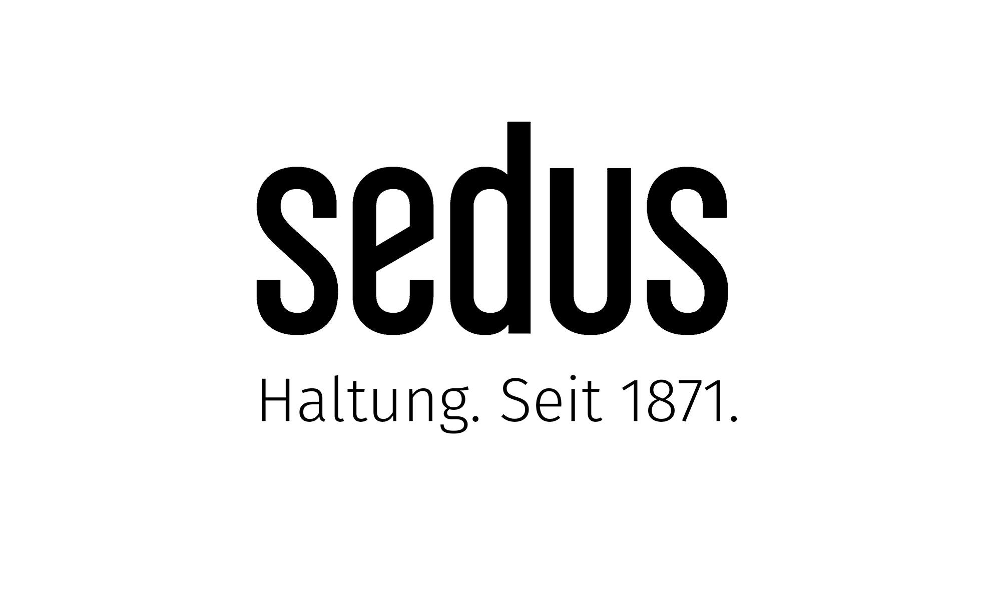 Logo Sedus – Haltung. Seit 1871.