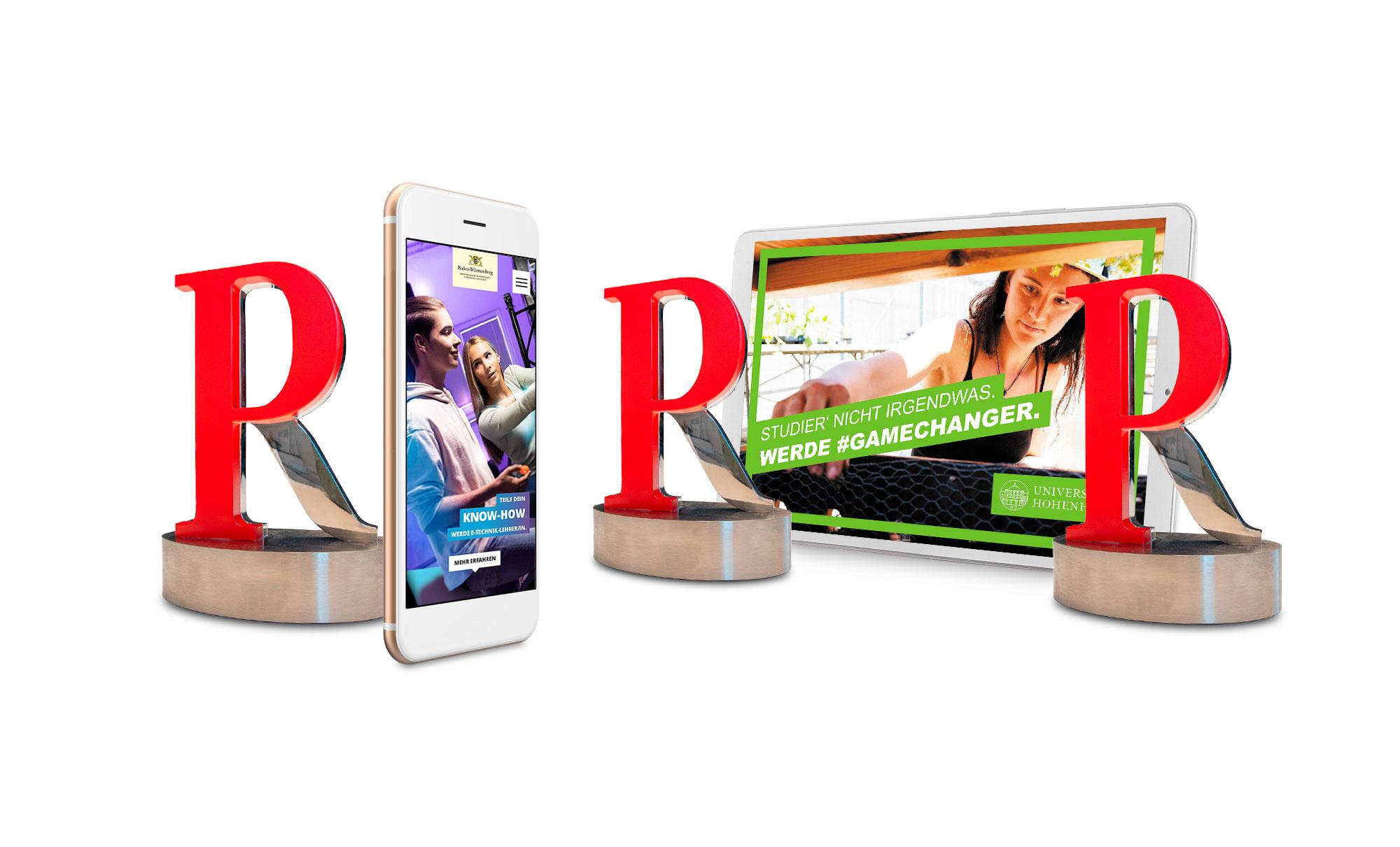 Drei PR Report Awards für Employer Branding Kampagnen von Werbeagentur Schleiner und Partner